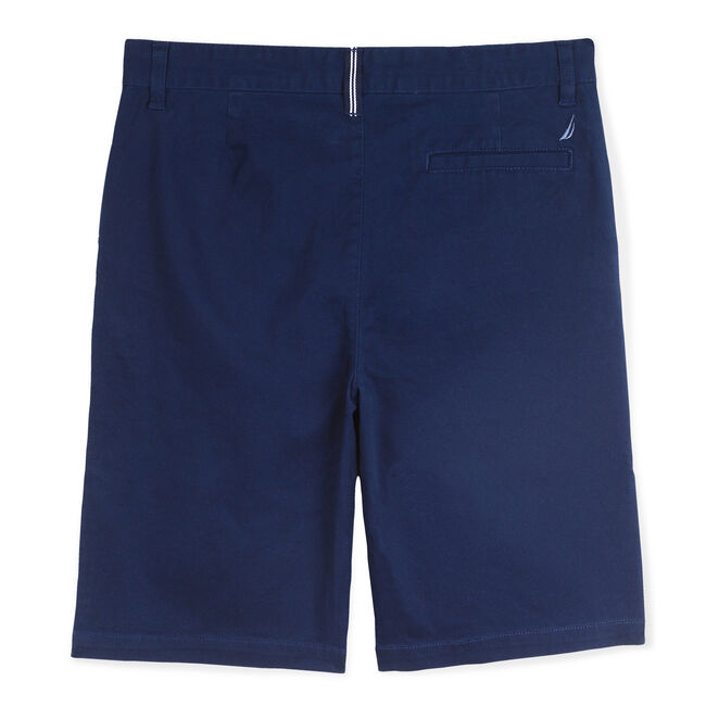 BOYS' FLAT FRONT DECK SHORT,Oyster Bay Blue,large