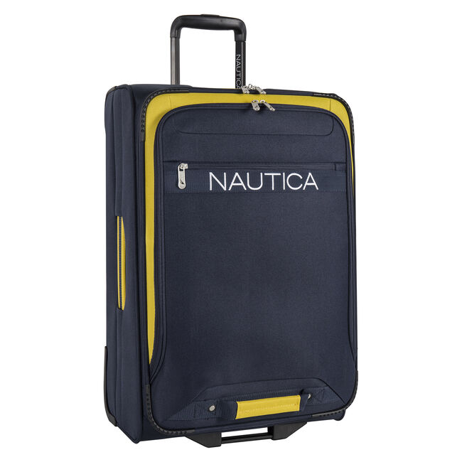 "Hayes Point 25"" Expandable Luggage in Navy/Yellow,Navy,large"