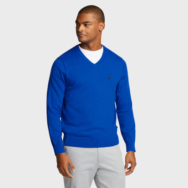 Jersey Navtech V-Neck Sweater - Bright Cobalt