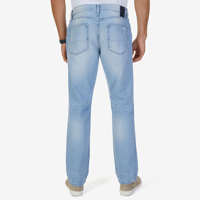 Slim Fit Sea Frost Wash Stretch Jeans,Bright Blue Jig,large