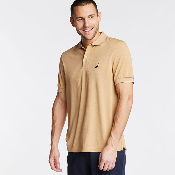 CLASSIC FIT PERFORMANCE POLO - Camel Heather