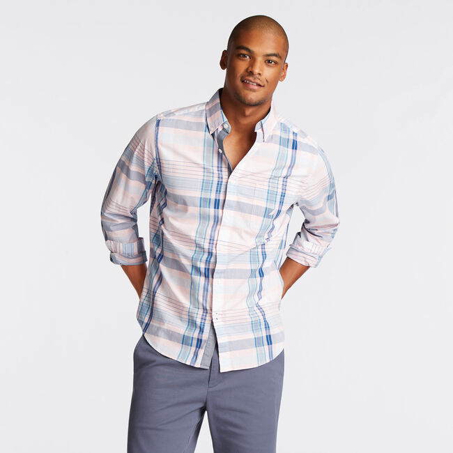 CLASSIC FIT SHIRT IN ORCHID PINK PLAID,Orchid Pink,large