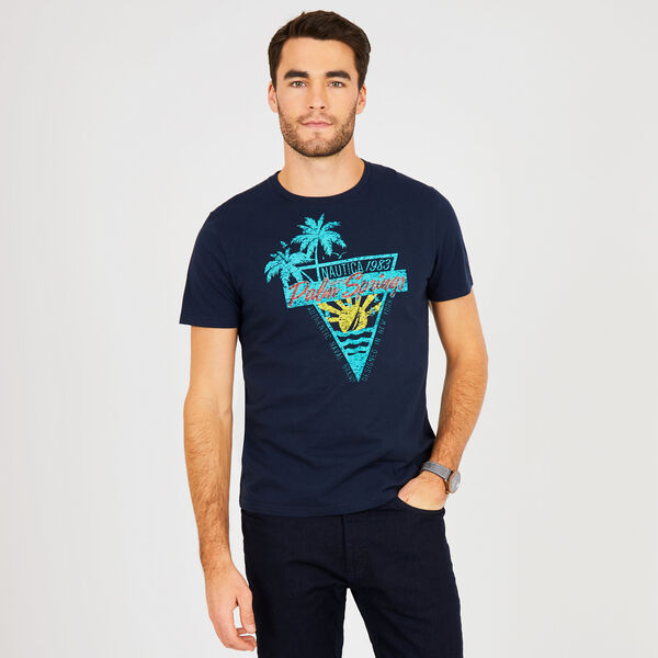 Big & Tall Palm Springs Crewneck T-Shirt - True Navy