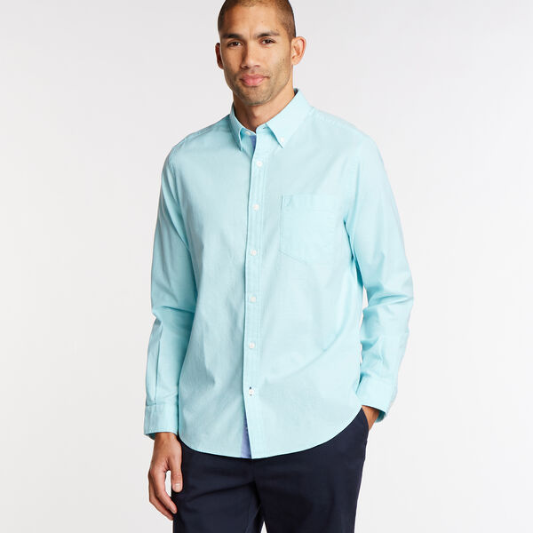 Long Sleeve Classic Fit Solid Oxford Shirt - Sapphire