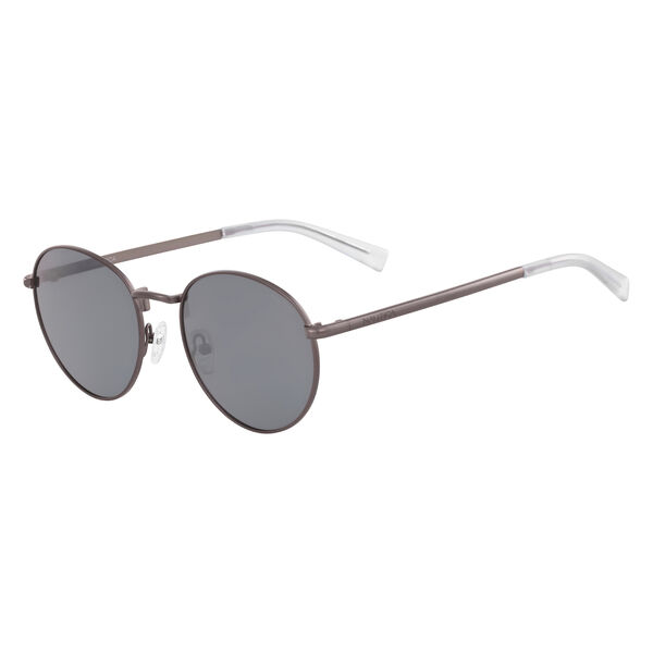 Round Sunglasses with Matte Frame - Gunpowder