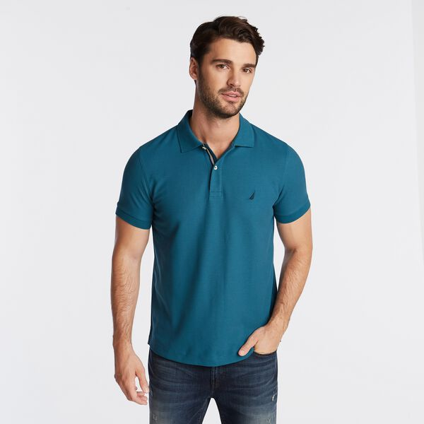 CLASSIC FIT PERFORMANCE MESH POLO - Capri Blue