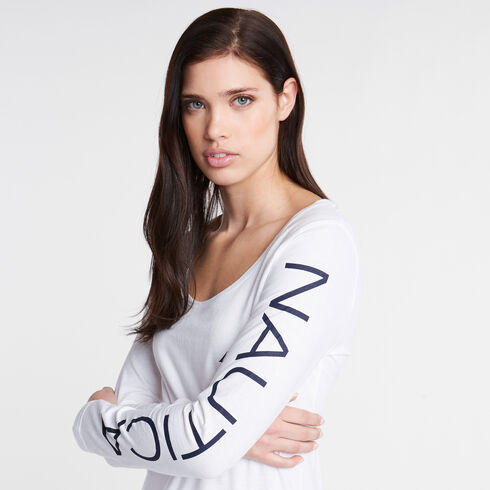 Long Sleeve Classic Fit Tee - Bright White