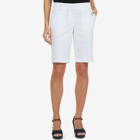 "Stretch Twill Bermuda Shorts - 11"" Inseam - Bright White"