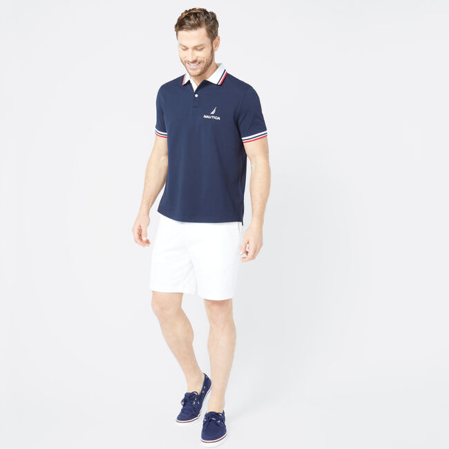 CLASSIC FIT LOGO POLO,Navy,large