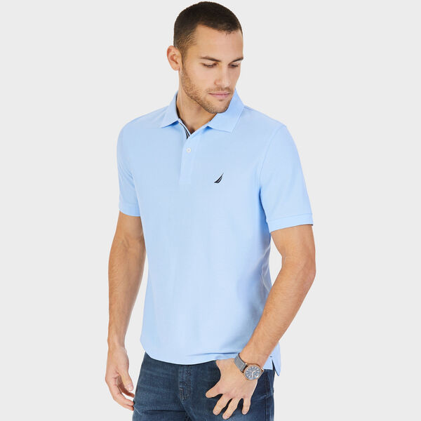 Big & Tall Performance Classic Fit Deck Polo - Azure Blue
