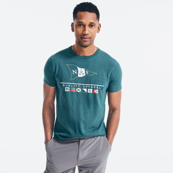 LOGO FLAGS GRAPHIC T-SHIRT - Evergreen