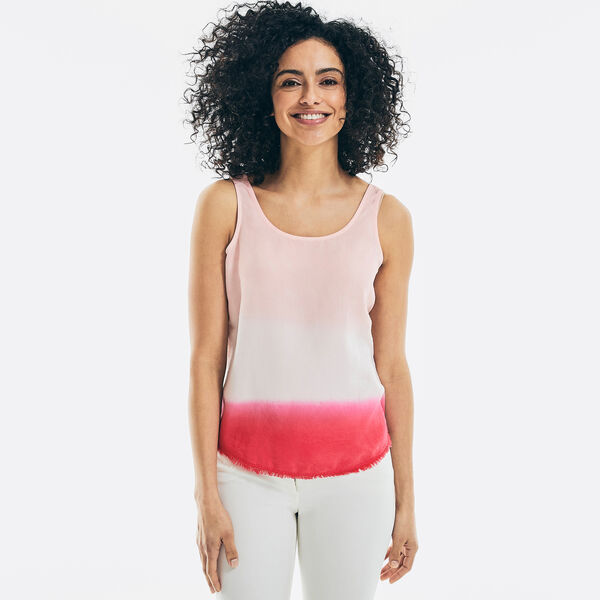 SUSTAINABLY CRAFTED DIP-DYE SLEEVELESS TOP - Cradle Pink