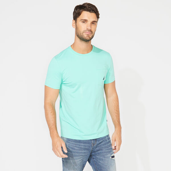 SHORT SLEEVE POCKET TEE - Mint Spring