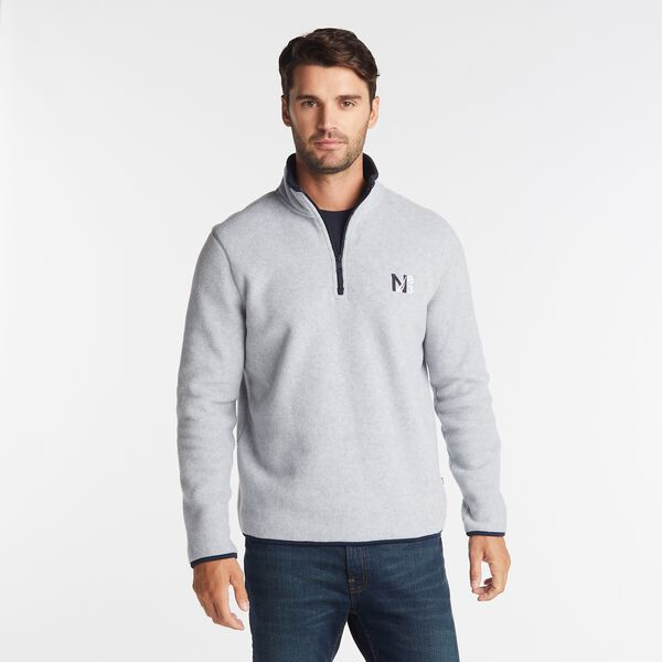 NAUTEX N83 QUARTER-ZIP FLEECE - Grey Heather