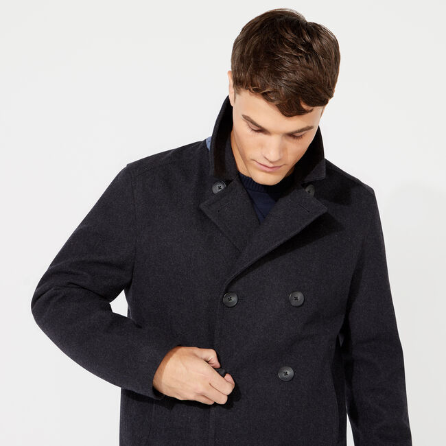 WATER REPELLENT PEACOAT,Pale Blue,large