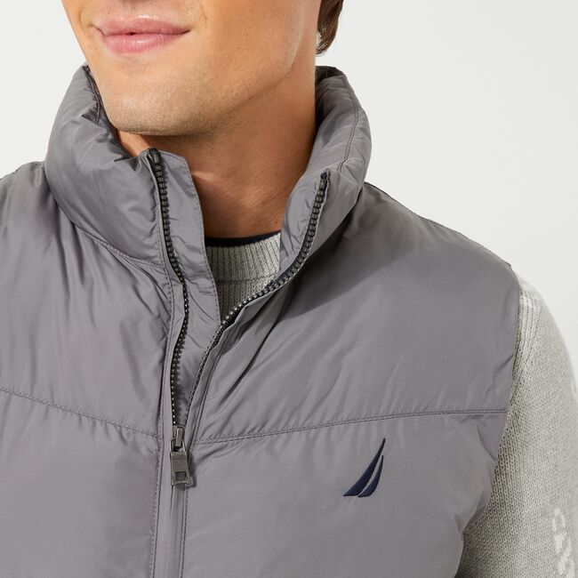 QUILTED TEMPASPHERE VEST,Grey Shadow,large