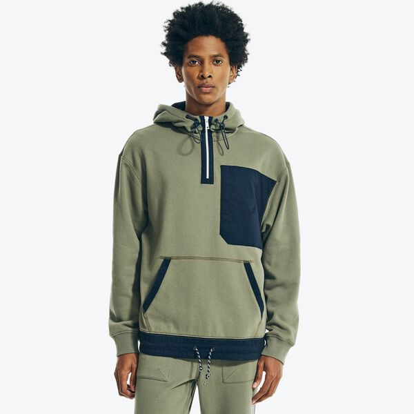 NAUTICA JEANS CO. PULLOVER HOODIE - Hillside Olive