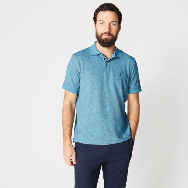 CLASSIC-FIT PERFORMANCE POLO - Ocean Depth Heather