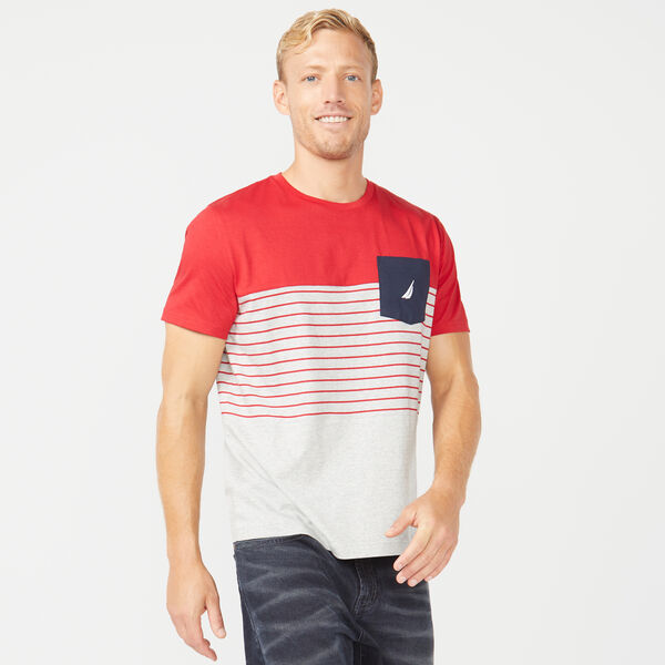 CLASSIC FIT COLORBLOCK T-SHIRT - Nautica Red
