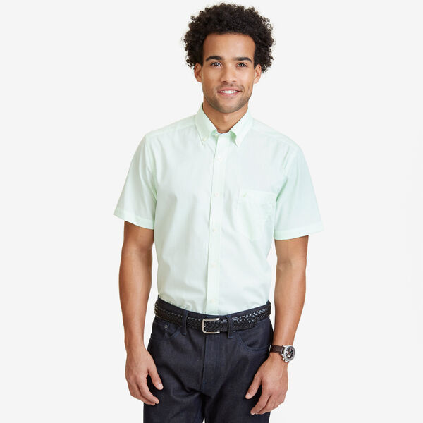 Gingham Classic Fit Button-Down Shirt - Green Spruce