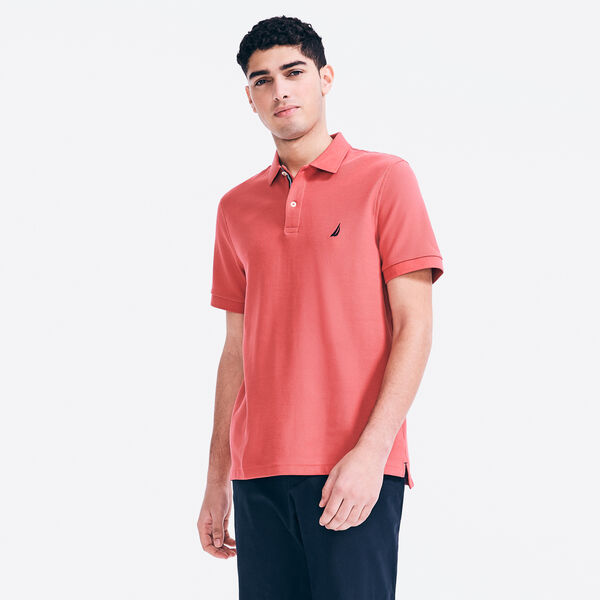 CLASSIC FIT PERFORMANCE PIQUE POLO - Coral Cape