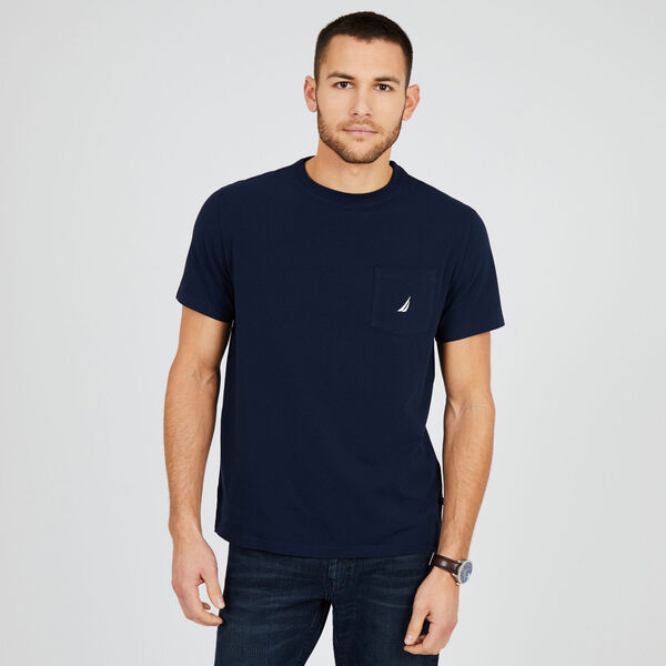 Short Sleeve Solid Pocket T-Shirt - Pure Dark Pacific Wash