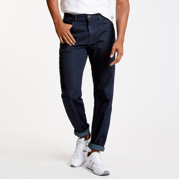 Pure Dark Pacific Wash Straight Leg Jeans - Navy