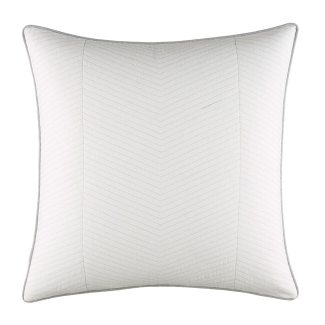 Clearview Ivory Euro Quilted Sham,Antique White Wash,large