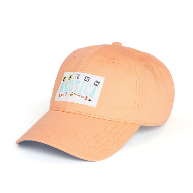 Signature Flag Patch Cap,Orange,large