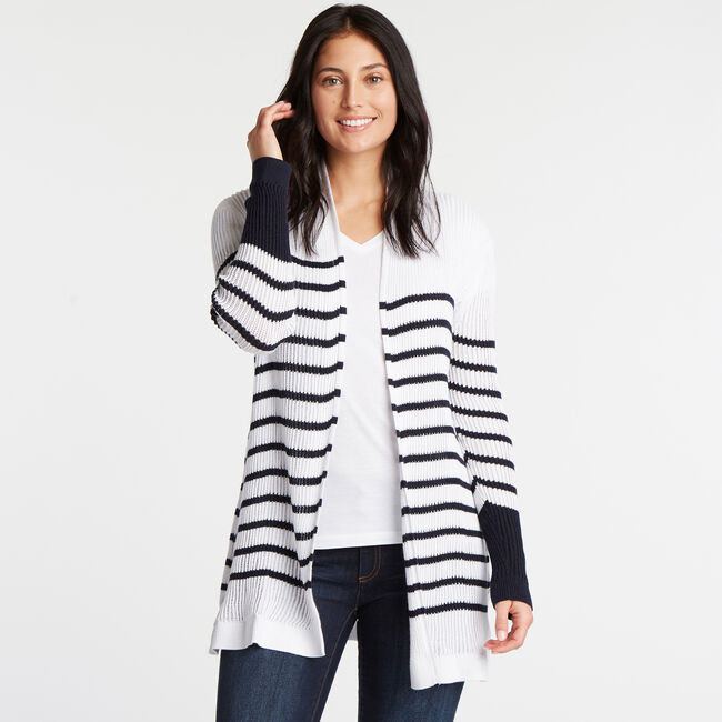 Long Sleeve Open Front Cardigan,Bright White,large