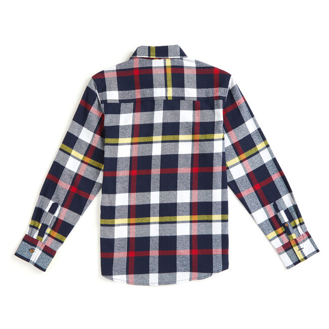 Toddler Boys' Grayson Flannel Plaid Long Sleeve Shirt (2T-4T),Aquadream,large