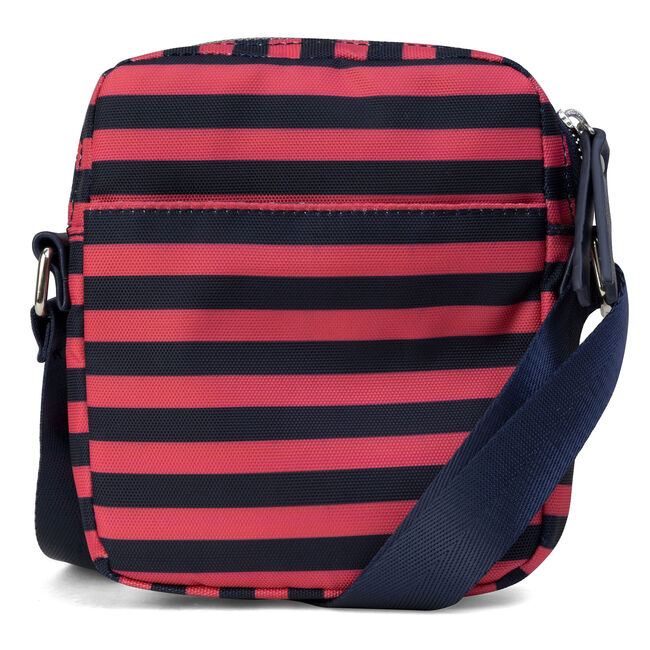 North & South Striped Crossbody,Flare Red,large