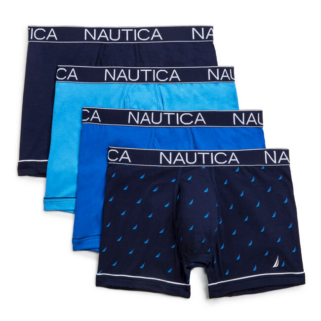 Performance Boxer Briefs, 4-Pack,Journey Blue,large
