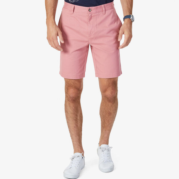 "Flat Front Slim Fit Shorts - 9.5"" Inseam - Desert Rose"