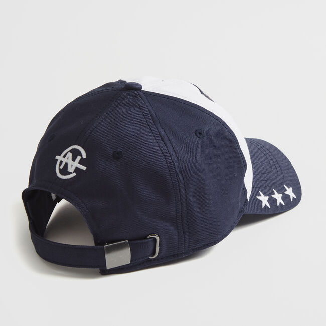 LOGO AND STAR EMBROIDERED COLORBLOCK CAP,Navy,large