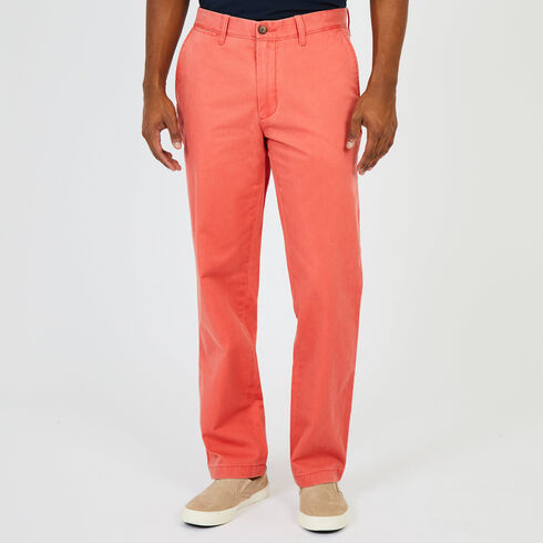 Classic Fit Brushed Twill Pants - Spiced Coral