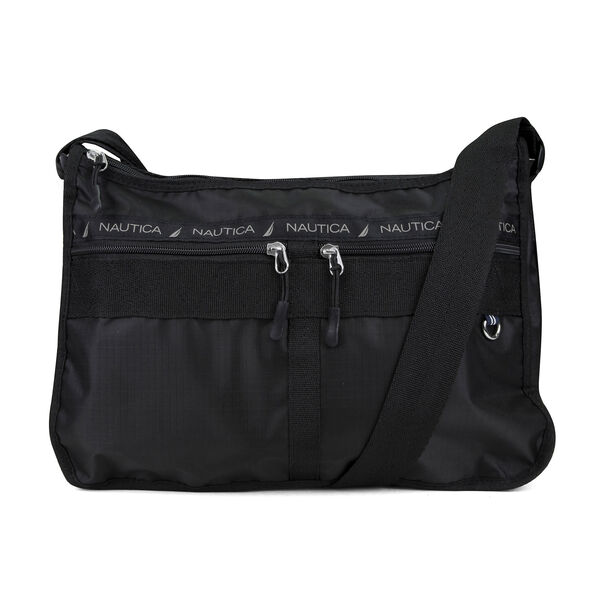 CAPTAIN'S QUARTERS NYLON HOBO BAG - True Black