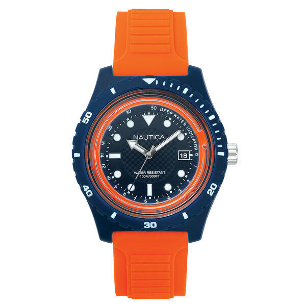 Ibiza Resin Watch - Blue & Orange - Multi