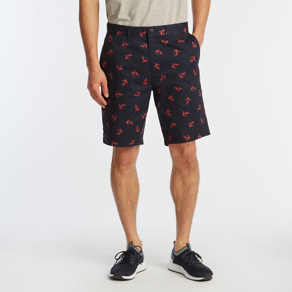 "8.5"" SLIM FIT ANCHOR PRINT SHORTS - Navy"