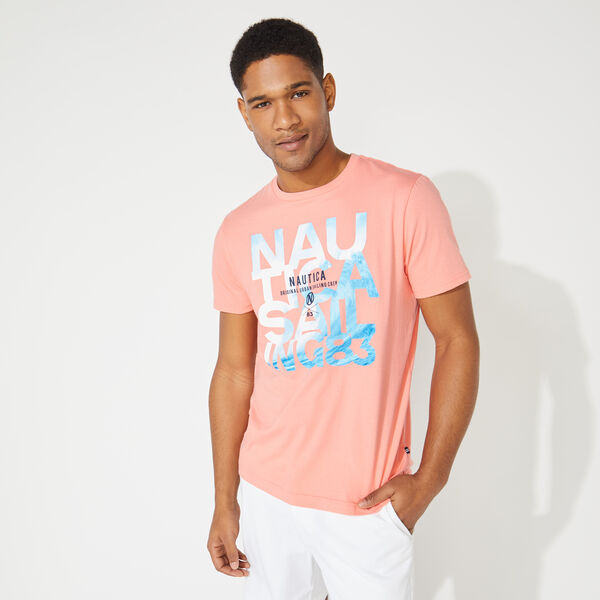 NAUTICA WAVE GRAPHIC TEE - Pale Coral