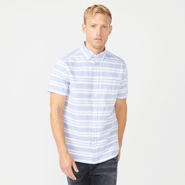 CLASSIC FIT OXFORD STRIPED SHIRT - Crest Blue