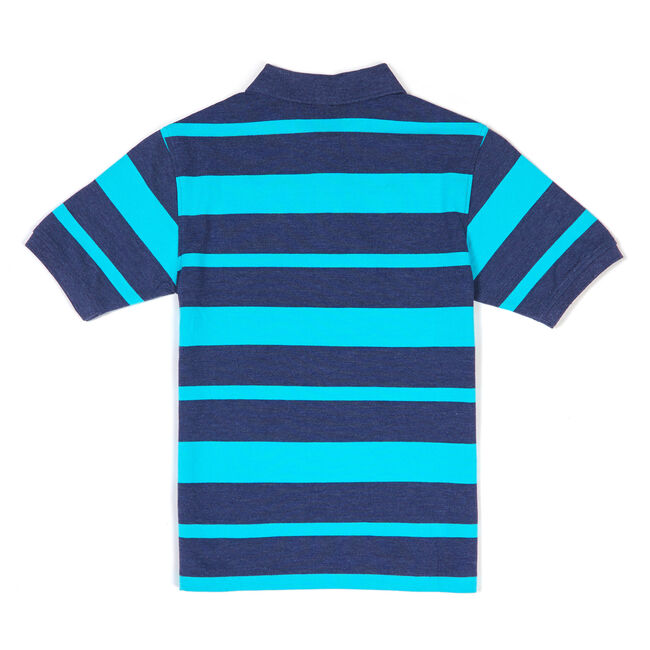 Toddler Boys' Striped Polo Shirt (2T-4T),Pure Deep B,large