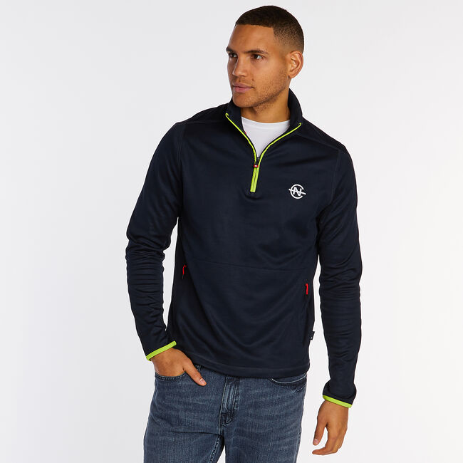Competition Quarter-Zip Pullover,Pure Dark Pacific Wash,large