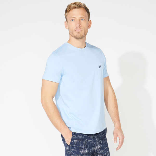 SOLID SHORT SLEEVE CREWNECK T-SHIRT - Noon Blue