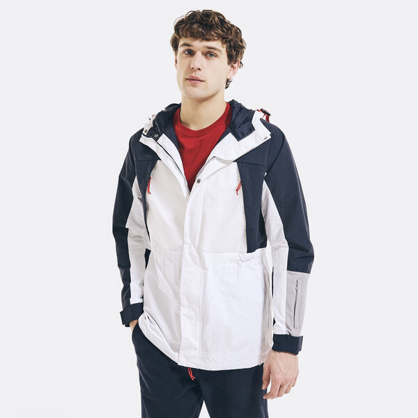 COMPETITION WATER-RESISTANT COLORBLOCK JACKET - Bright White