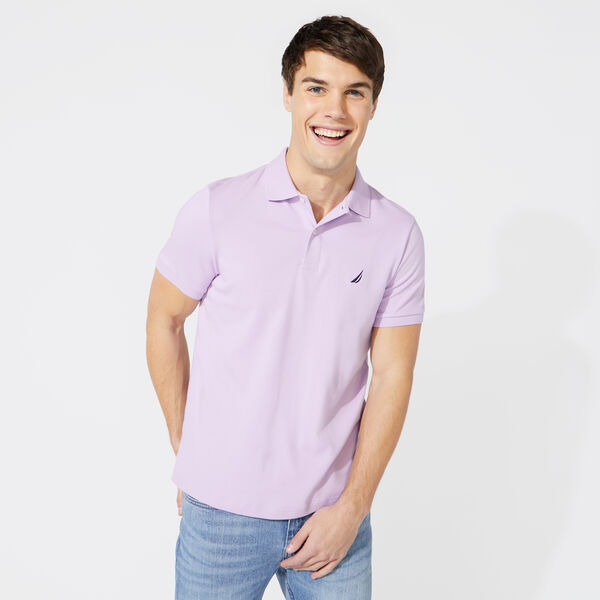 SLIM FIT INTERLOCK POLO - Lavendula
