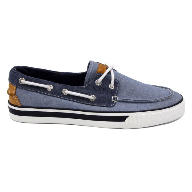Galley Boat Shoe in Blue,Gulfcoast Blue Heather,large