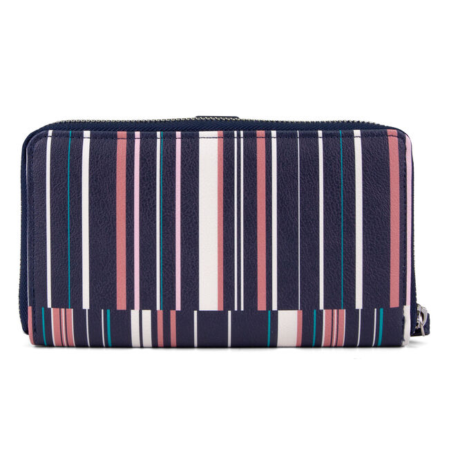 Plain Sailing Striped Wristlet With Removable Pouch,Nautica Red/Orange,large