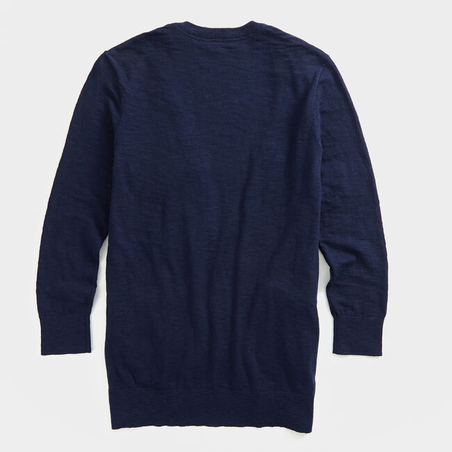 NAUTICA JEANS CO. OPEN-FRONT KNIT CARDIGAN,Stellar Blue Heather,large