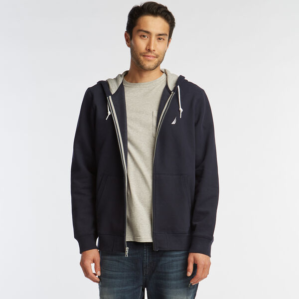 NEW FULL ZIP HOODIE - Pure Dark Pacific Wash